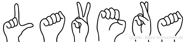 Lavera in Fingersprache für Gehörlose