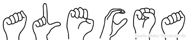 Alecsa in Fingersprache für Gehörlose