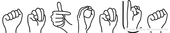 Antonja in Fingersprache für Gehörlose