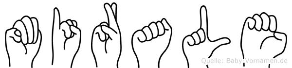 Mirale im Fingeralphabet der Deutschen Gebärdensprache