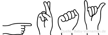 Gray in Fingersprache für Gehörlose