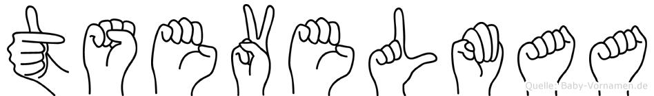 Tsevelmaa in Fingersprache für Gehörlose