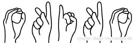 Okiko in Fingersprache für Gehörlose