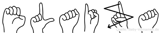 Elaiza im Fingeralphabet der Deutschen Gebärdensprache