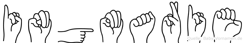 Ingmarie im Fingeralphabet der Deutschen Gebärdensprache