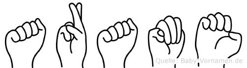 Arame in Fingersprache für Gehörlose