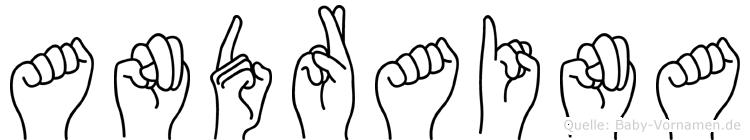 Andraina im Fingeralphabet der Deutschen Gebärdensprache