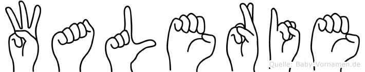 Walerie in Fingersprache für Gehörlose