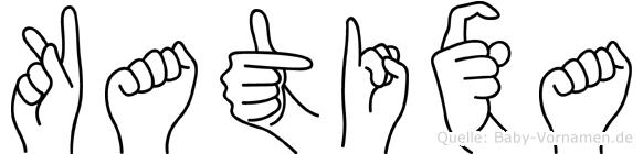 Katixa im Fingeralphabet der Deutschen Gebärdensprache