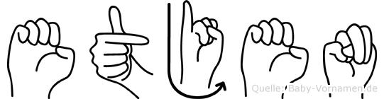 Etjen im Fingeralphabet der Deutschen Gebärdensprache