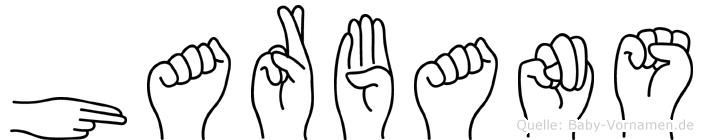 Harbans im Fingeralphabet der Deutschen Gebärdensprache
