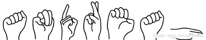 Andreah im Fingeralphabet der Deutschen Gebärdensprache