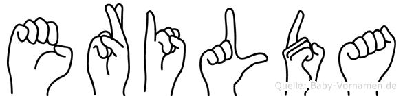 Erilda in Fingersprache für Gehörlose