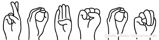Robson in Fingersprache für Gehörlose