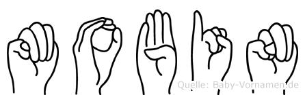 Mobin im Fingeralphabet der Deutschen Gebärdensprache