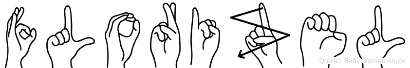 Florizel im Fingeralphabet der Deutschen Gebärdensprache