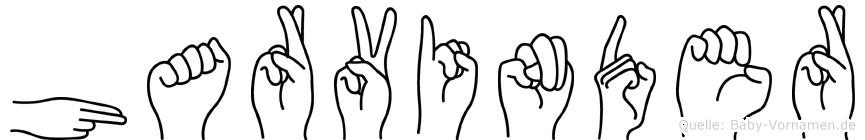 Harvinder im Fingeralphabet der Deutschen Gebärdensprache