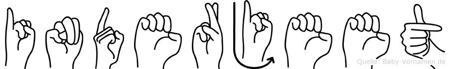 Inderjeet im Fingeralphabet der Deutschen Gebärdensprache