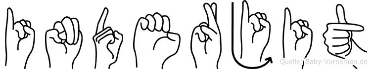Inderjit im Fingeralphabet der Deutschen Gebärdensprache