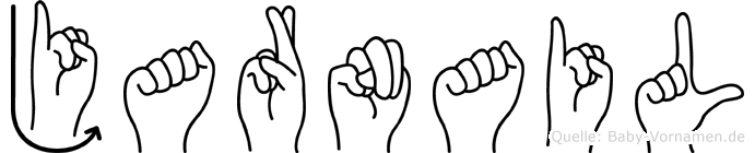 Jarnail im Fingeralphabet der Deutschen Gebärdensprache