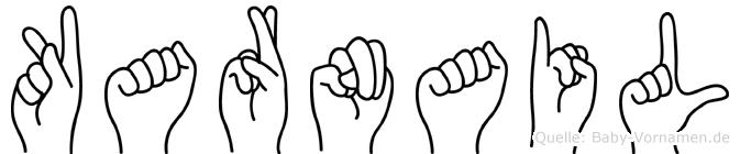 Karnail im Fingeralphabet der Deutschen Gebärdensprache