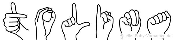 Tolina in Fingersprache für Gehörlose