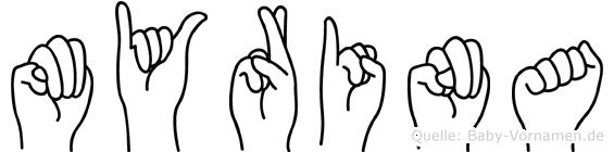 Myrina in Fingersprache für Gehörlose