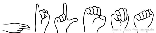 Hilena in Fingersprache für Gehörlose