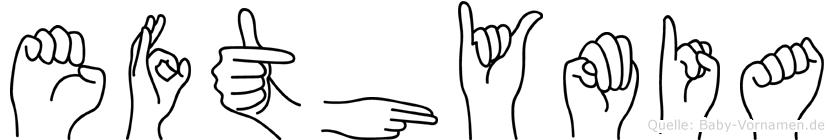 Efthymia in Fingersprache für Gehörlose