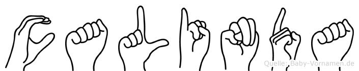 Calinda in Fingersprache für Gehörlose
