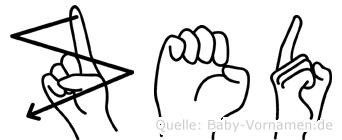 Zed in Fingersprache für Gehörlose