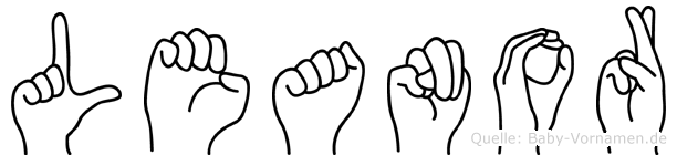 Leanor in Fingersprache für Gehörlose