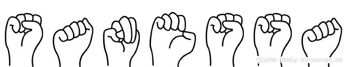 Sanessa im Fingeralphabet der Deutschen Gebärdensprache