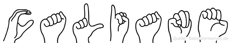 Caliane in Fingersprache für Gehörlose