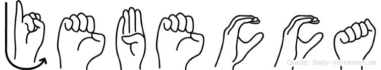 Jebecca im Fingeralphabet der Deutschen Gebärdensprache