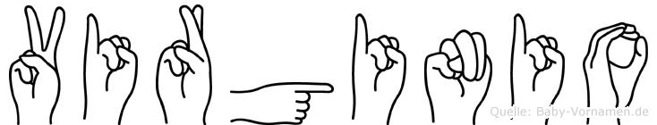 Virginio in Fingersprache für Gehörlose