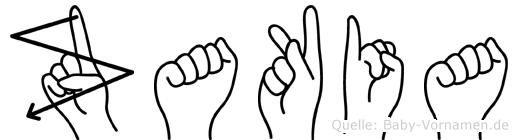 Zakia im Fingeralphabet der Deutschen Gebärdensprache