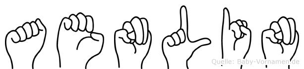 Aenlin im Fingeralphabet der Deutschen Gebärdensprache