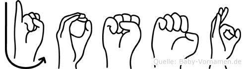 Josef in Fingersprache für Gehörlose