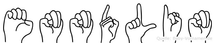 Enndlin im Fingeralphabet der Deutschen Gebärdensprache