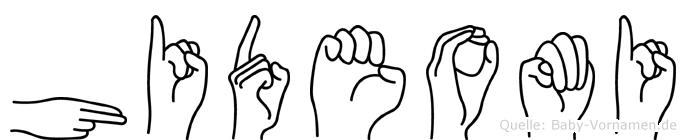 Hideomi im Fingeralphabet der Deutschen Gebärdensprache