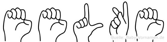 Eelke im Fingeralphabet der Deutschen Gebärdensprache