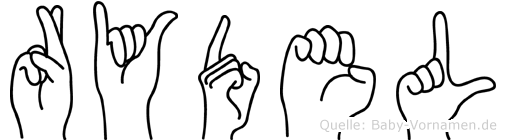 Rydel in Fingersprache für Gehörlose