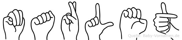 Marlet im Fingeralphabet der Deutschen Gebärdensprache