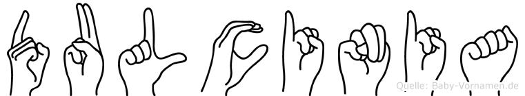 Dulcinia in Fingersprache für Gehörlose