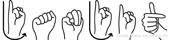 Janjit im Fingeralphabet der Deutschen Gebärdensprache