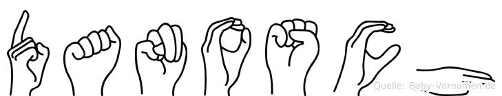 Danosch im Fingeralphabet der Deutschen Gebärdensprache