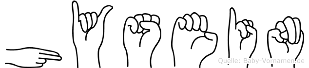 Hysein im Fingeralphabet der Deutschen Gebärdensprache