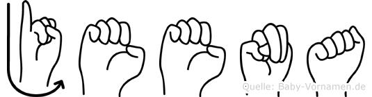 Jeena im Fingeralphabet der Deutschen Gebärdensprache