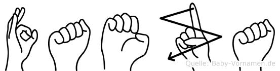 Faeza in Fingersprache für Gehörlose